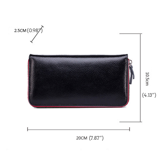 Women Genuine Leather Purse Wallet Card Bag Mobile Phone Bag