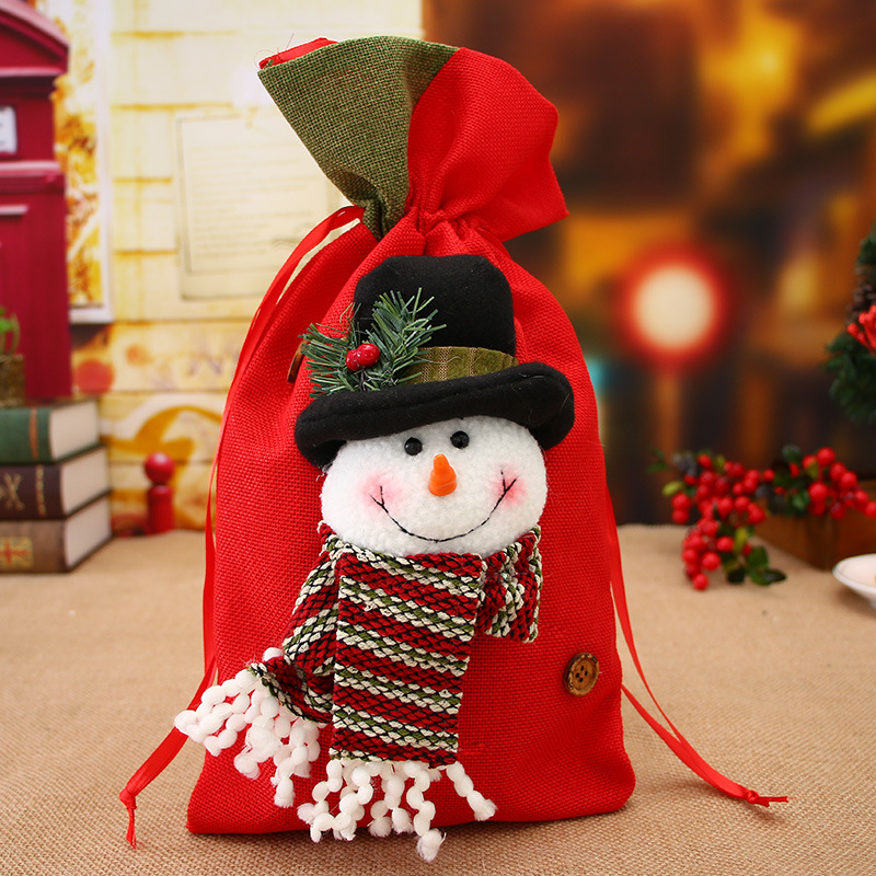 Christmas Gift Bag Candy Fit Wedding Party Christmas Stocking Decoration Apple Candy Bag