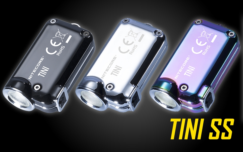 Nitecore Tini SS XP-G2 S3 380LM USB Rechargeable Mini Keychain Light EDC LED Flashlight