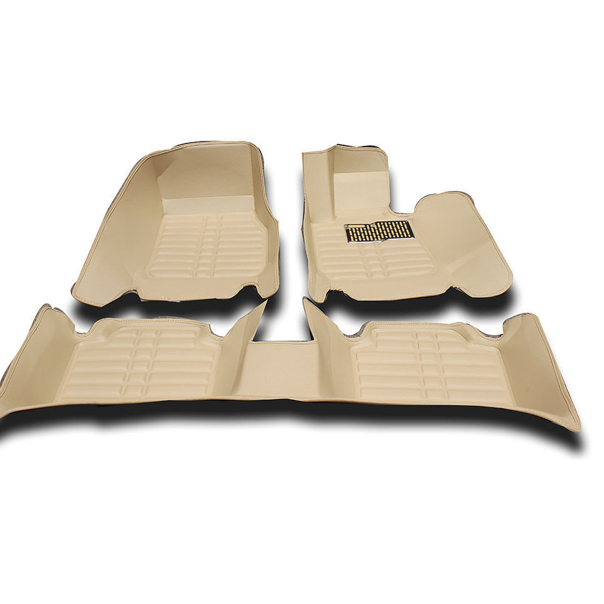 3Pcs PU Leather Full-Encased Car Floor Mat Front Rear Liner Waterproof for BMW 3series 2005-2011