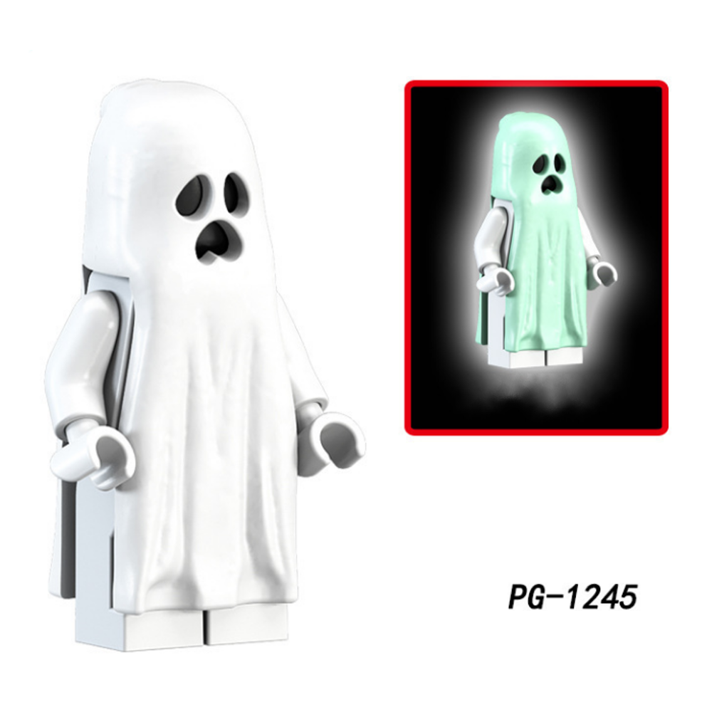 Ghost Expression Building Blocks With Luminous Effect Assembling Building Blocks Toys - Photo: 2
