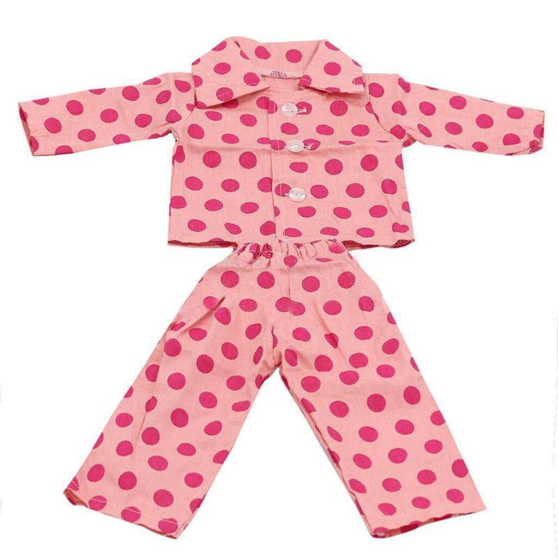Strawberry Doll Clothes Pajama Handmade PJ For 18inch American Girl