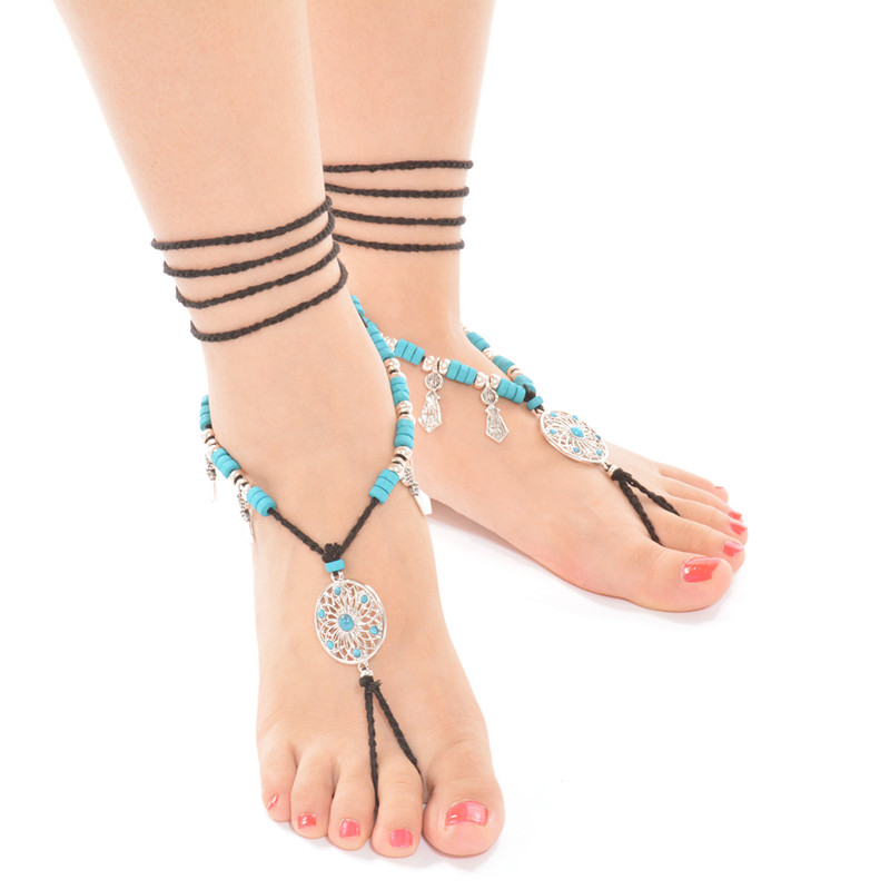 Summer Vacation Beach Barefoot Sandal Sexy Anklet