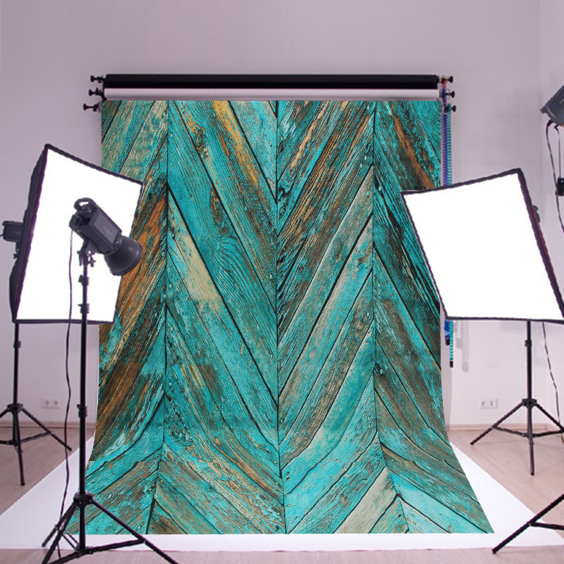 1.5x2.1m Blue Twill Paint Wood Shooting Studio Photography Background Backdrop