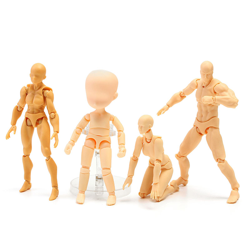 Movable Anime Model DIY Figma Male Skin Color Figure Figma Archetype Doll 13cm PVC Doll Toy