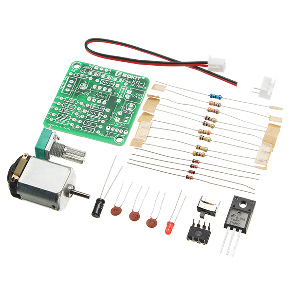 EQKIT® DC 6-12V PWM Motor Speed Controller Kit DIY Motor Speed Regulator Set Sealed Potentiometer Stepless Speed Control With Long Service Life Stable Performance Small Noise And Large Torque Function