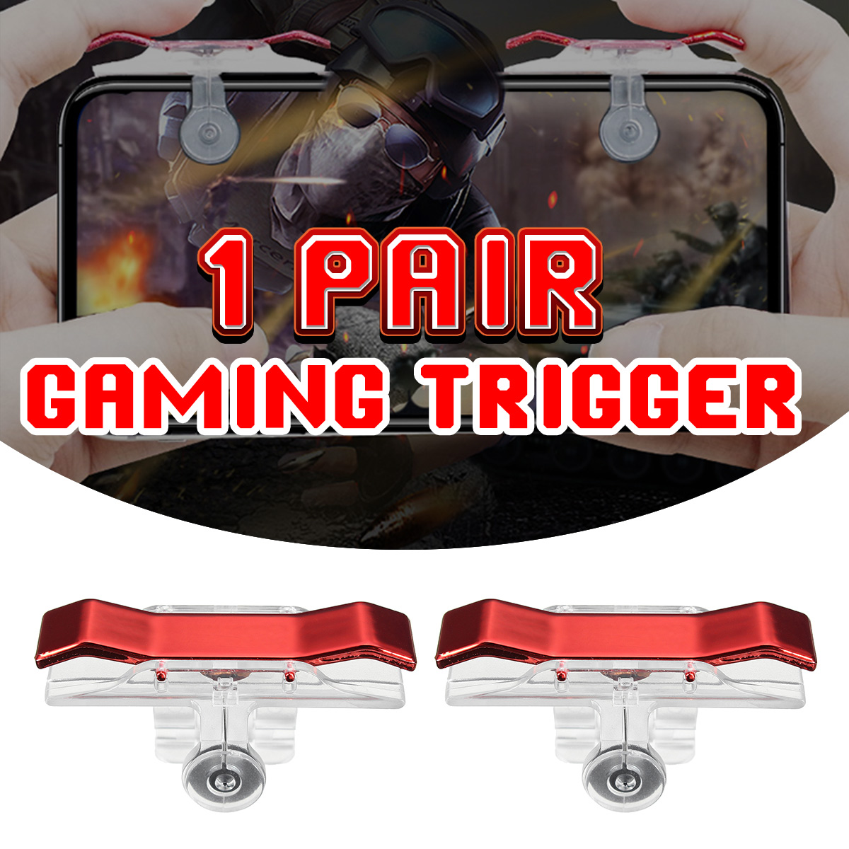 2pcs Titanium Switch Game Trigger Button Shooter Controller For PUBG Tools