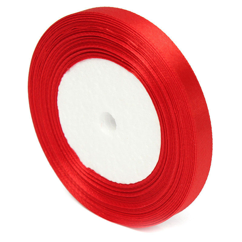 10mm 25Yards Reel Grosgrain Ribbon Wedding Birthday Party Gift Candy Box Decoration