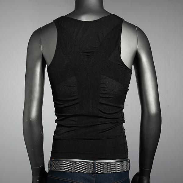 df6ba065a0 Men s Belly Body Shaper Vest Shirt Corset Underwear Belt Comfortable ...