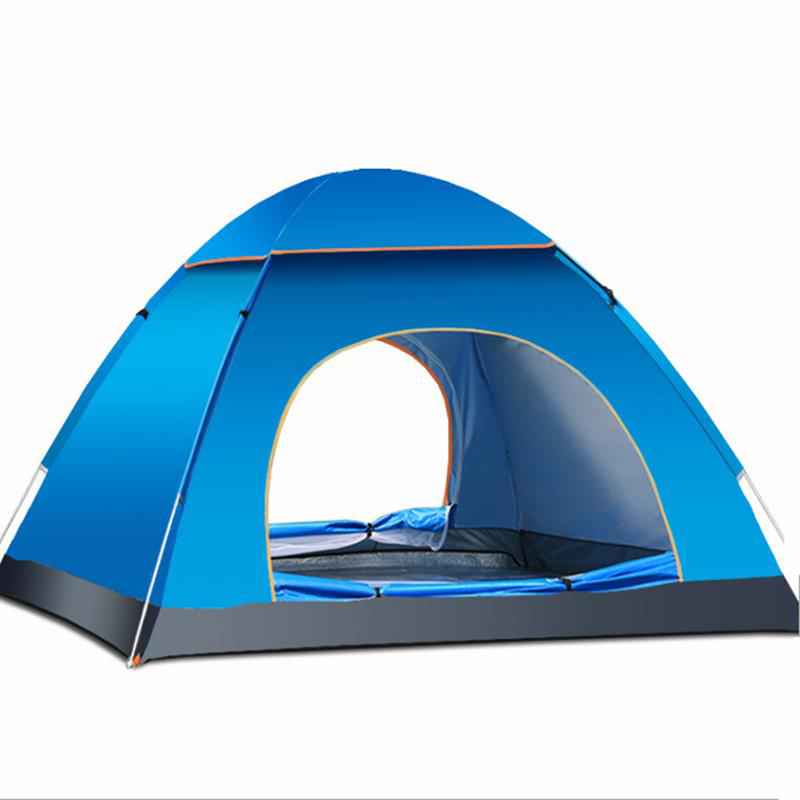 Outdoor 3-4 Persons Camping Tent Automatic Quick Open W