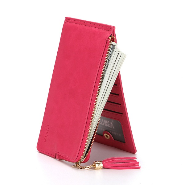 Women PU Leather 14 Card Slots 5.5
