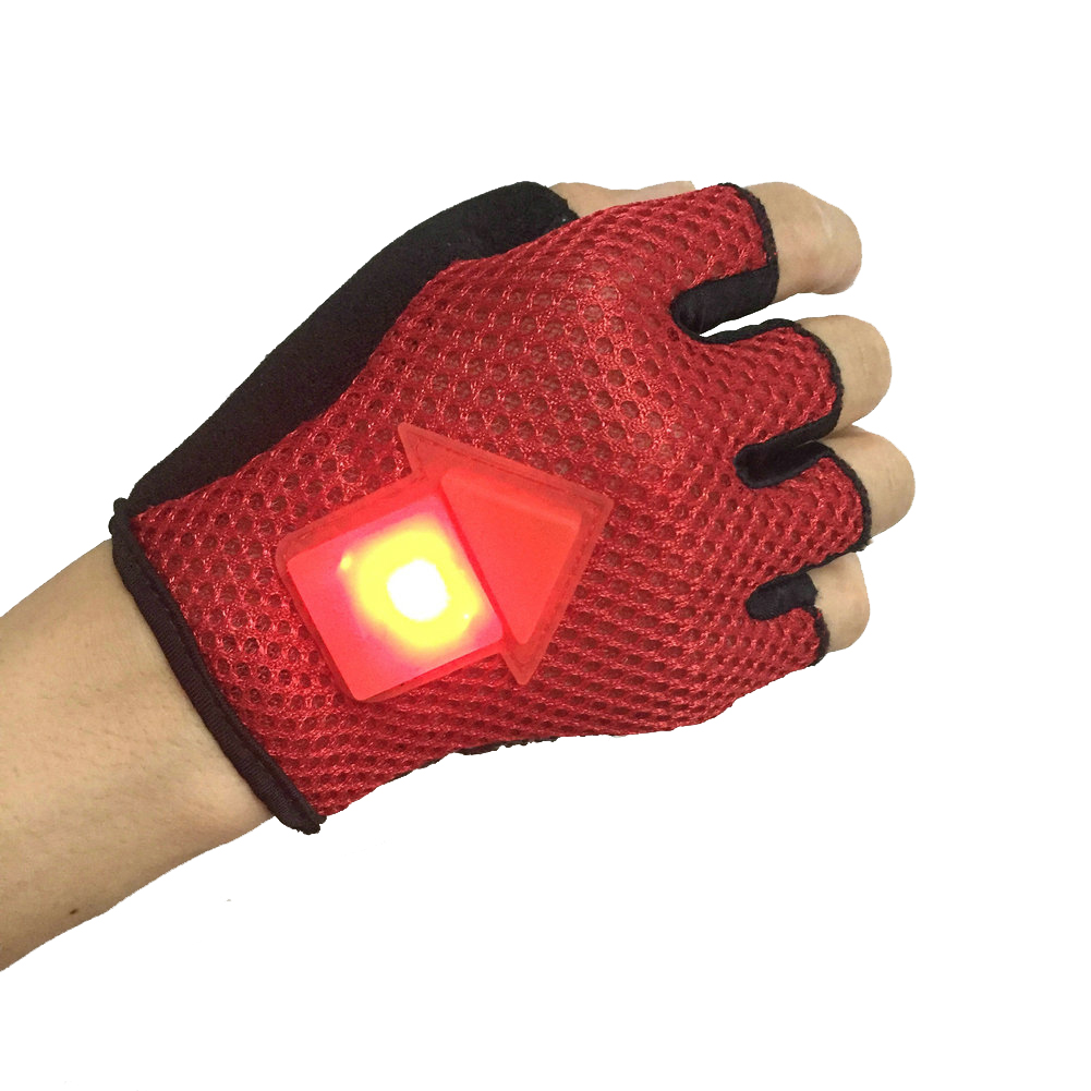 BIKIGHT Gravity Sensor Turn Signal Bike Gloves LED Light Automatic Induction Warning for Cycling Run
