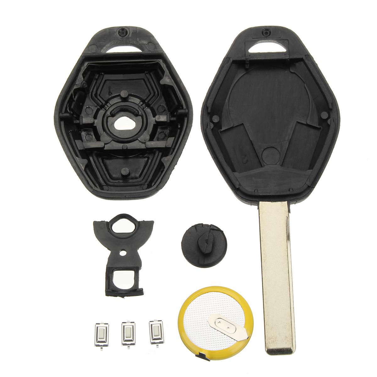 3 Buttons Diamond Remote Key Case Full Repair Kit For BMW E46 3 5 7 Z3
