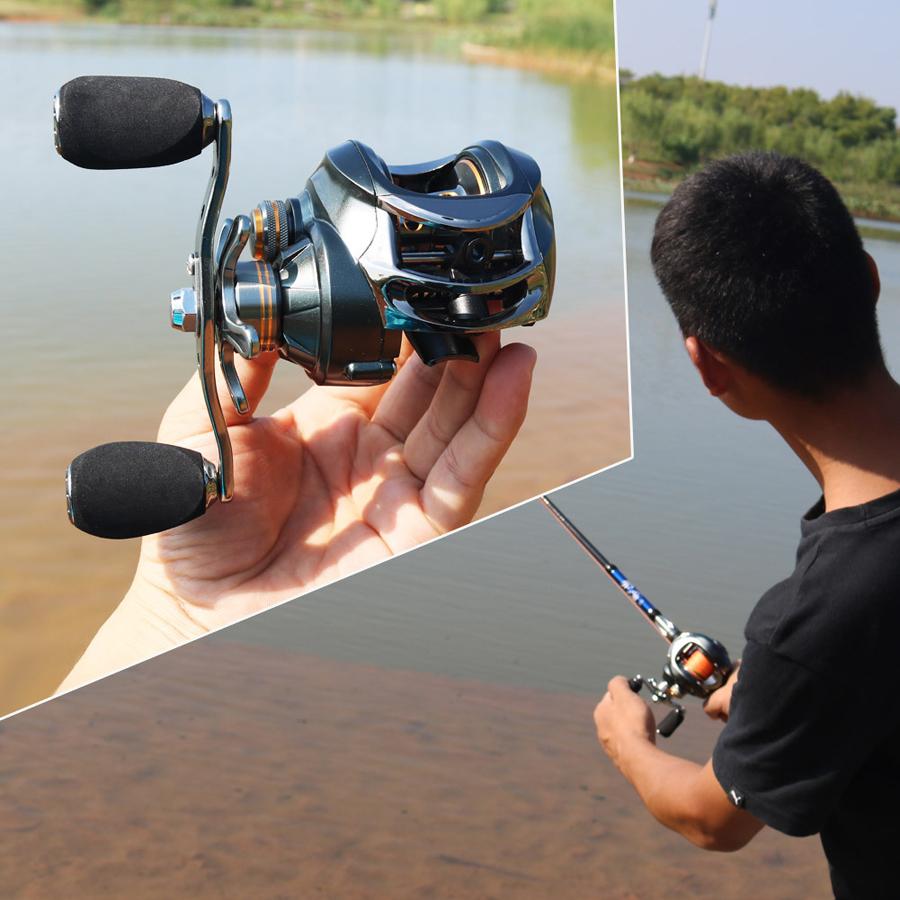 Sougayilang DMK12 7.0:1 11+1BB Stainless Steel Fishing Reel Left/Right Hand Casting Saltwater Reel