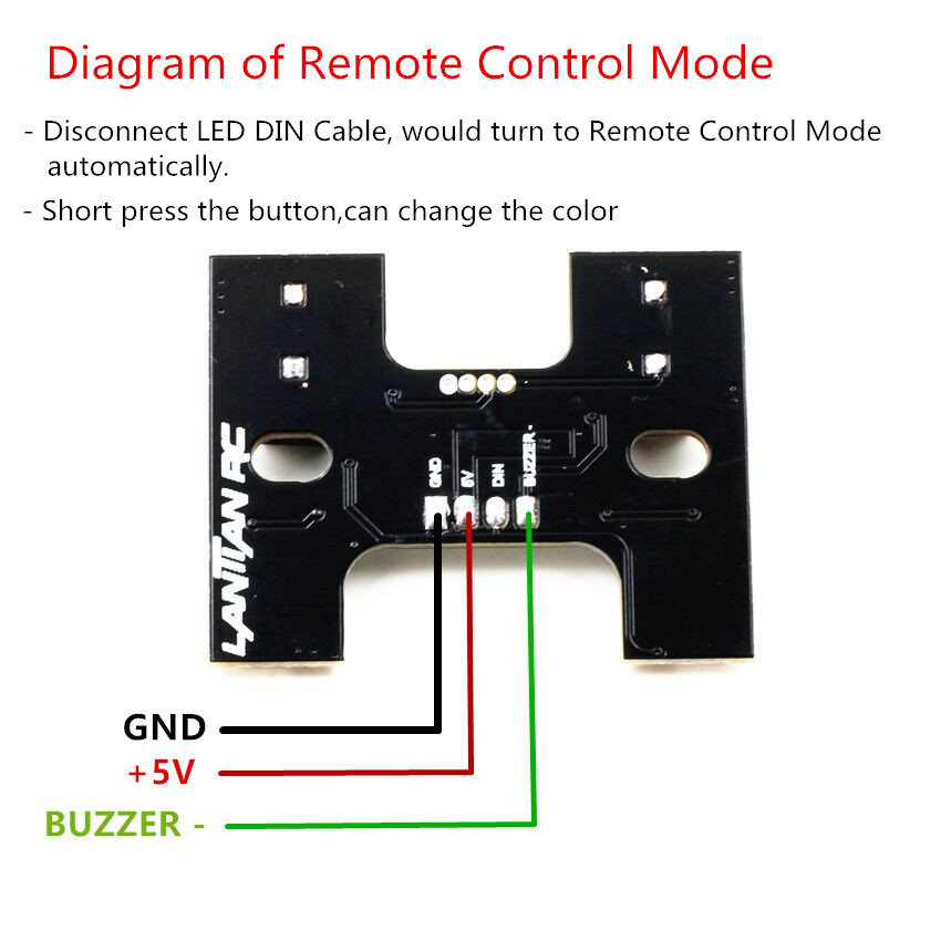 RC Tail LED Light WS2812B with 5V Super Lound Buzzer Dual Mode for RC Racing Drone