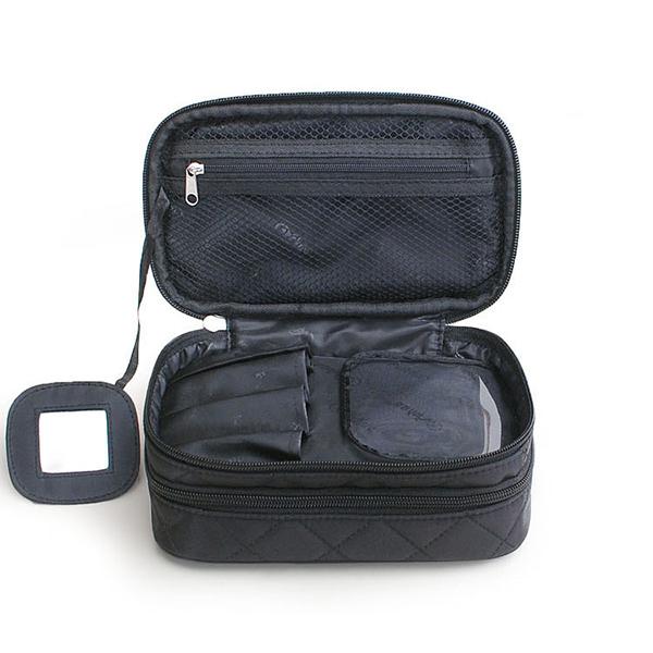 Nylon Double Layer Portable Storage Bag Cosmetic Bag