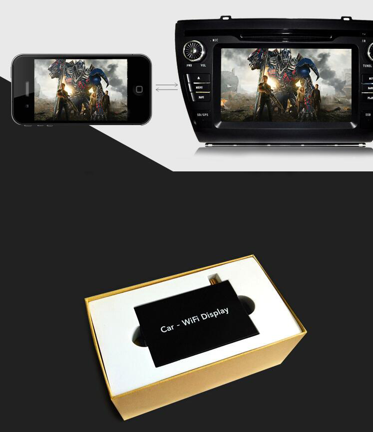TPO-02 Wireless Screen Player Network Playback Mirror Navigation Car DVD Player