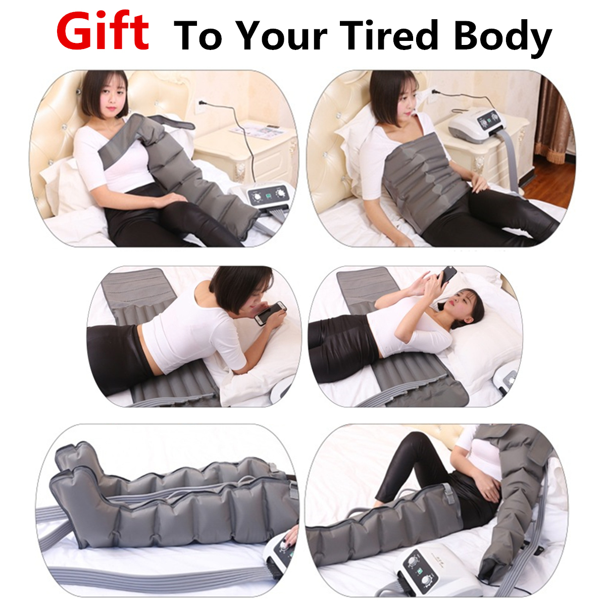 Sequential Air Compression Massager for Leg Arm Wasit