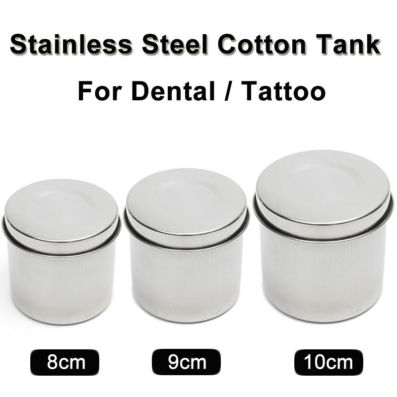 10cm Diameter Stainless Steel Dental Cotton Tank for Dental Tattoo
