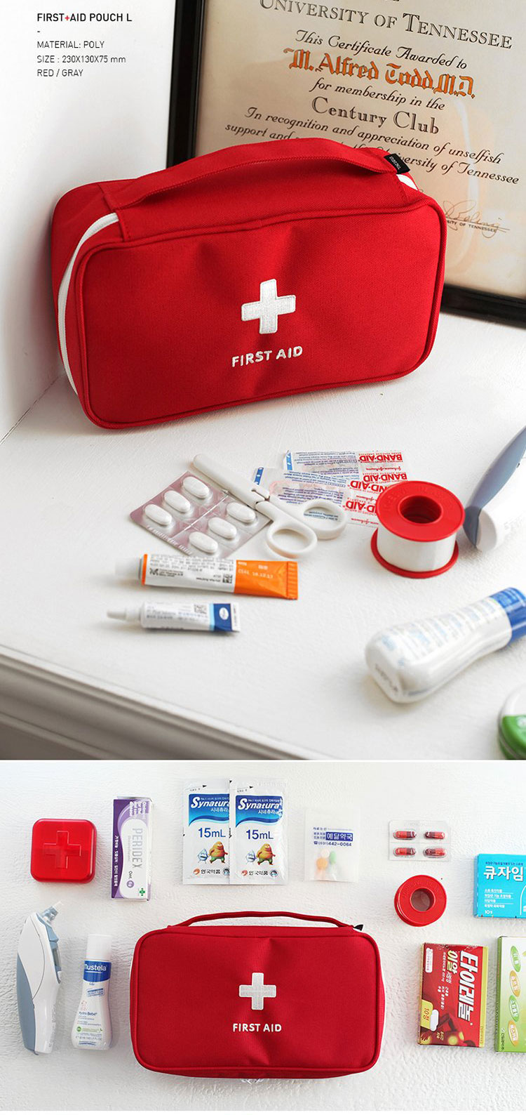 Large Medicine Bag Travel First Aid Emergency Bag Outdooors Camping Pill Storage Bag Survival Kit