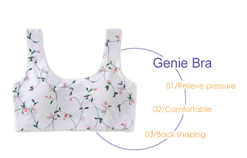 Lycra Wire Free Full Cup Coverage Floral Padded Genie Bra