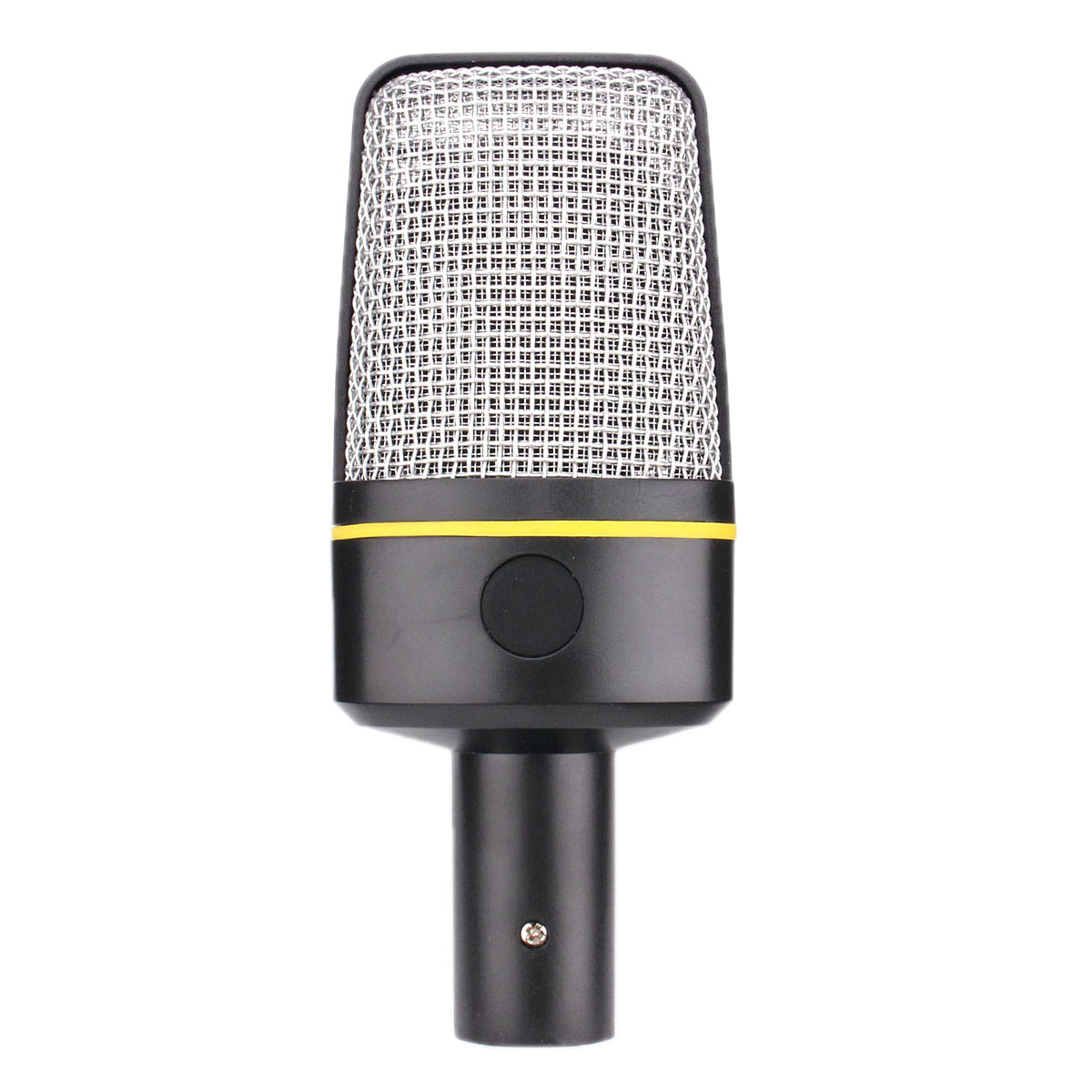 3.5 mm Condenser Microphone Mic For MSN Skype Singing Recording Laptop Notebook PC