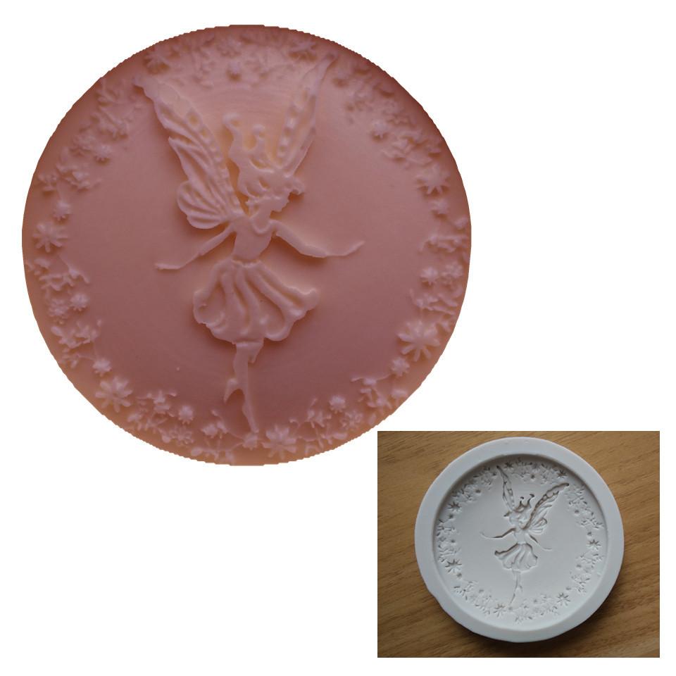 Lovely Dancing Fairy Girl Fondant Cake Mold Chocolate Mold Kicthen Baking Decorations Tool