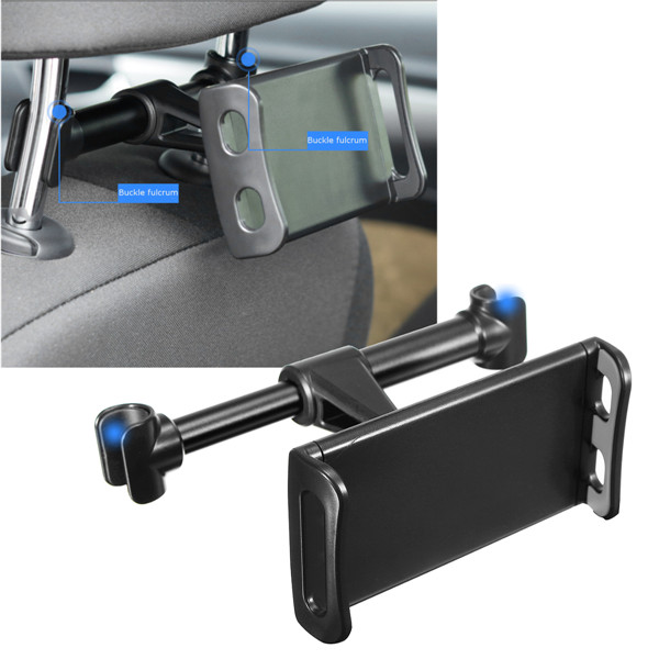 360˚ Rotating Car Back Seat Head Rest Mount Holder Stand For Phone Tablet 4