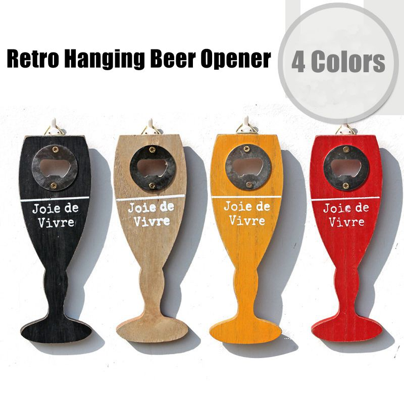 Retro Travel Beer Bottle Opener Creative Cup Shape Restaurant Home Bar Wall Decorations
