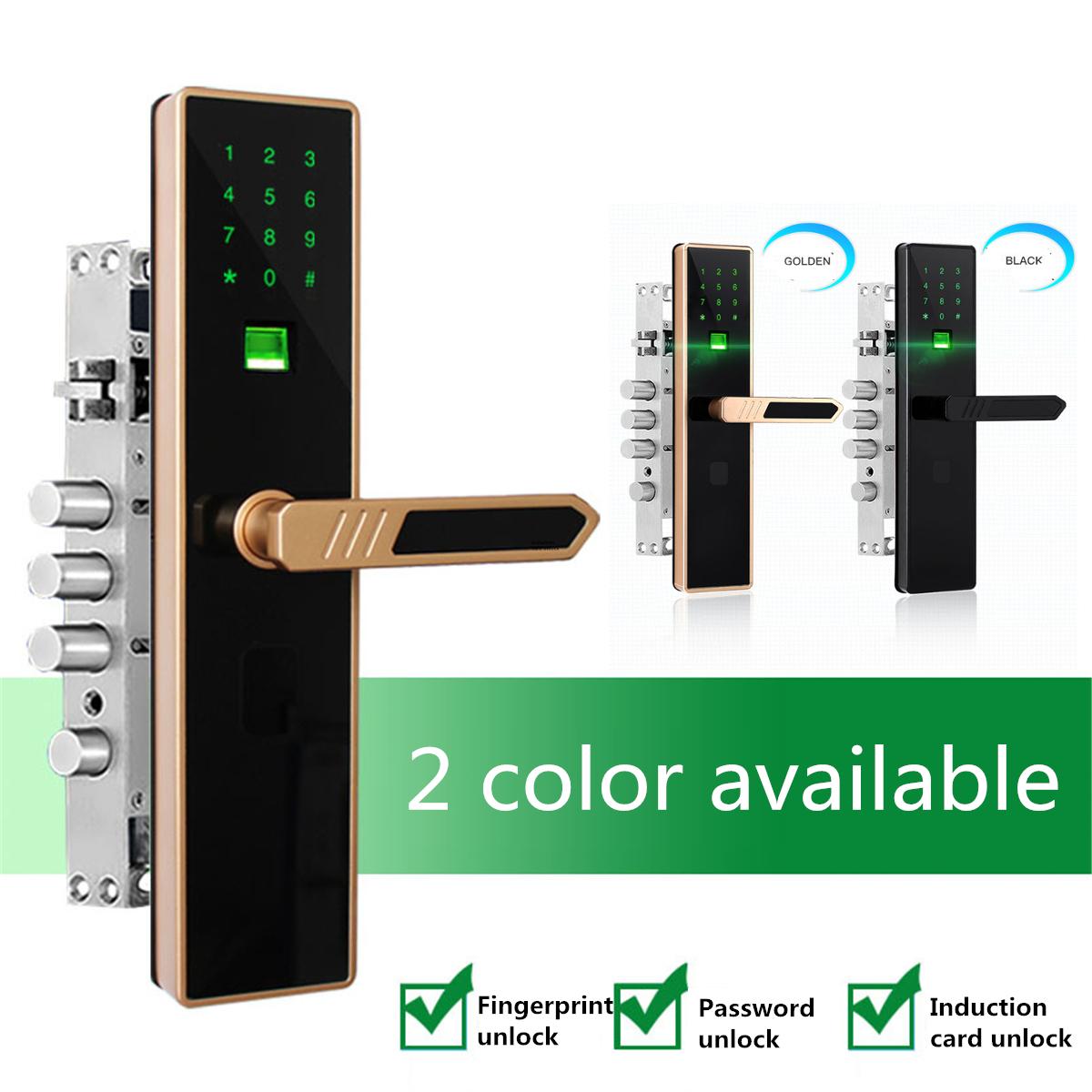 Smart Door Lock Fingerprint Touch Password Anti-theft Home Security Handle Key