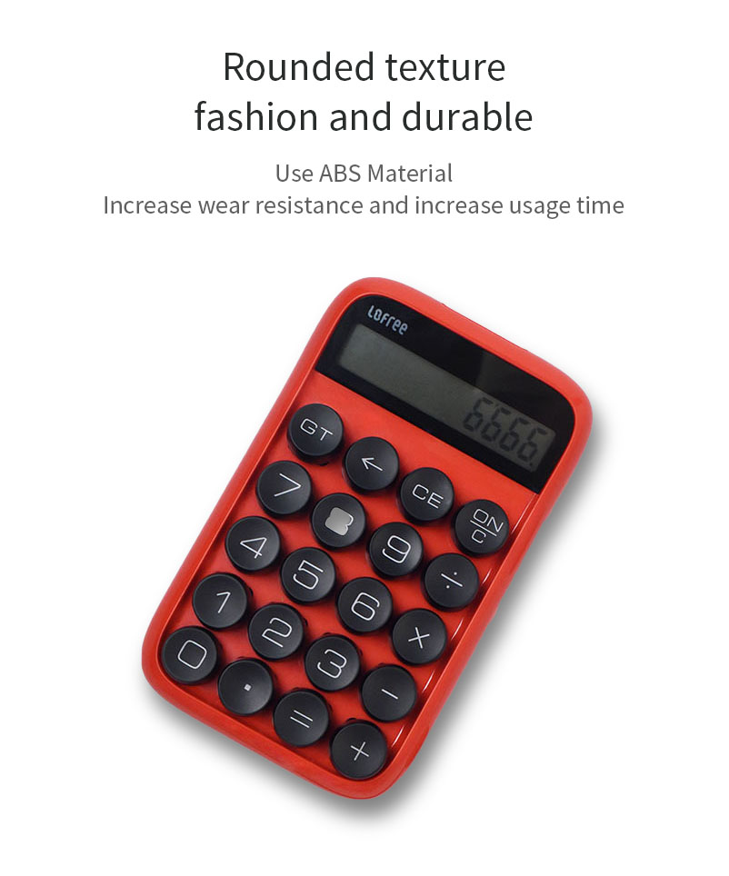 XIAOMI LOFREE Jelly Bean Mechanical Calculator Multi-function Digital LCD Scientific Calculator