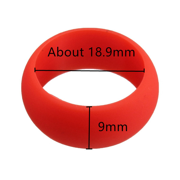 Fashion Size 9 Rubber Silicone Soft Band Finger Ring Gift for Men