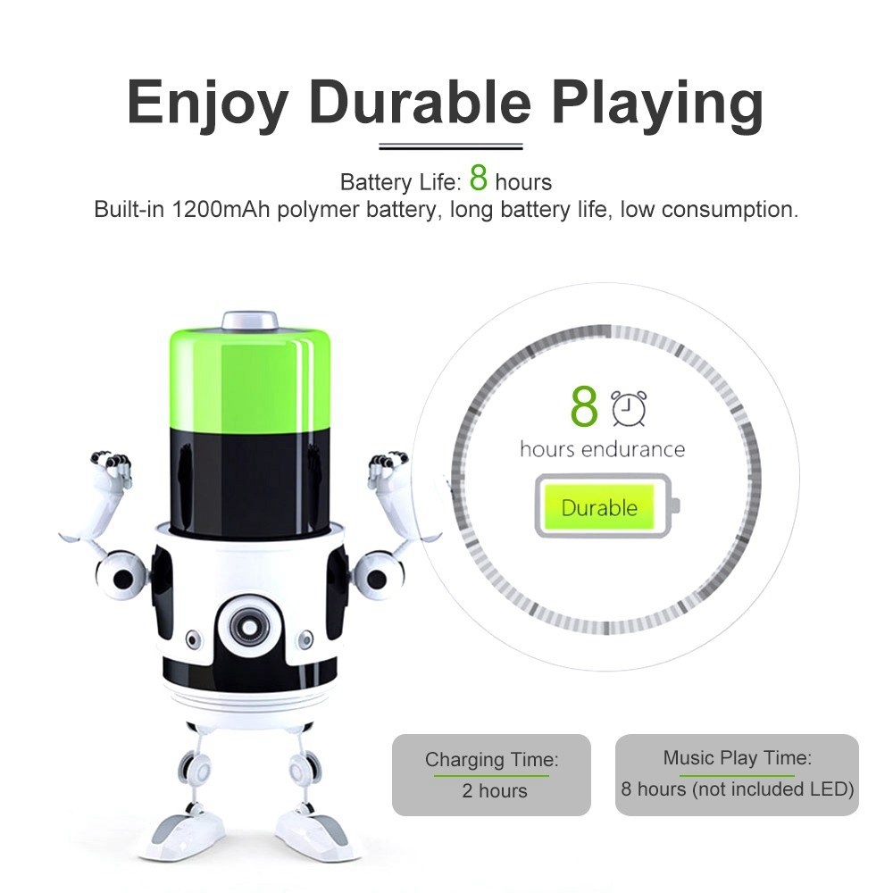 Portable Wireless bluetooth Stereo Speaker Rechargeable Flame Effect Night Light for Indoor Outdoor
