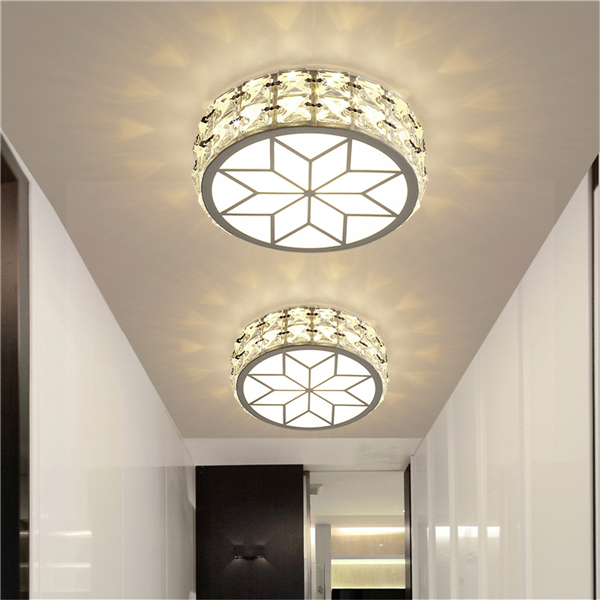 9W Modern LED Ceiling Lights Crystal Chandelier Pendant Lamp Porch Hallway Fixture AC220V
