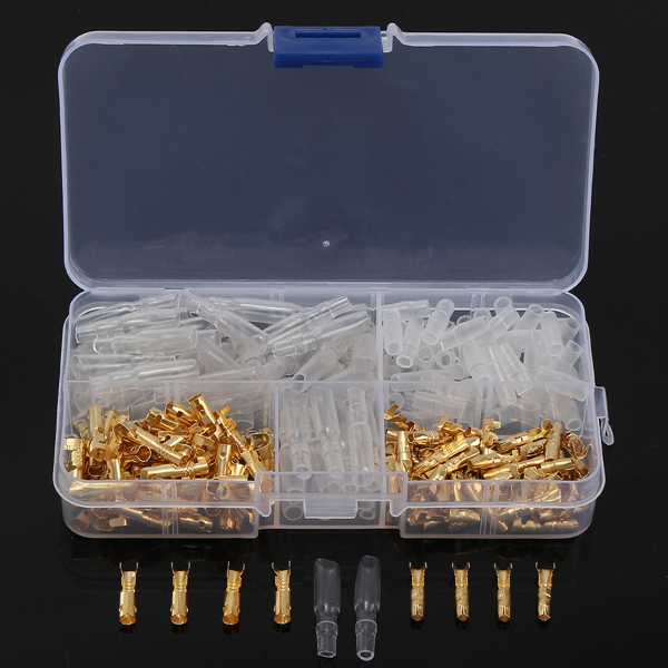 Excellway® TC02 120Pcs Brass Bullet 3.5mm Terminal Male and Female Connector