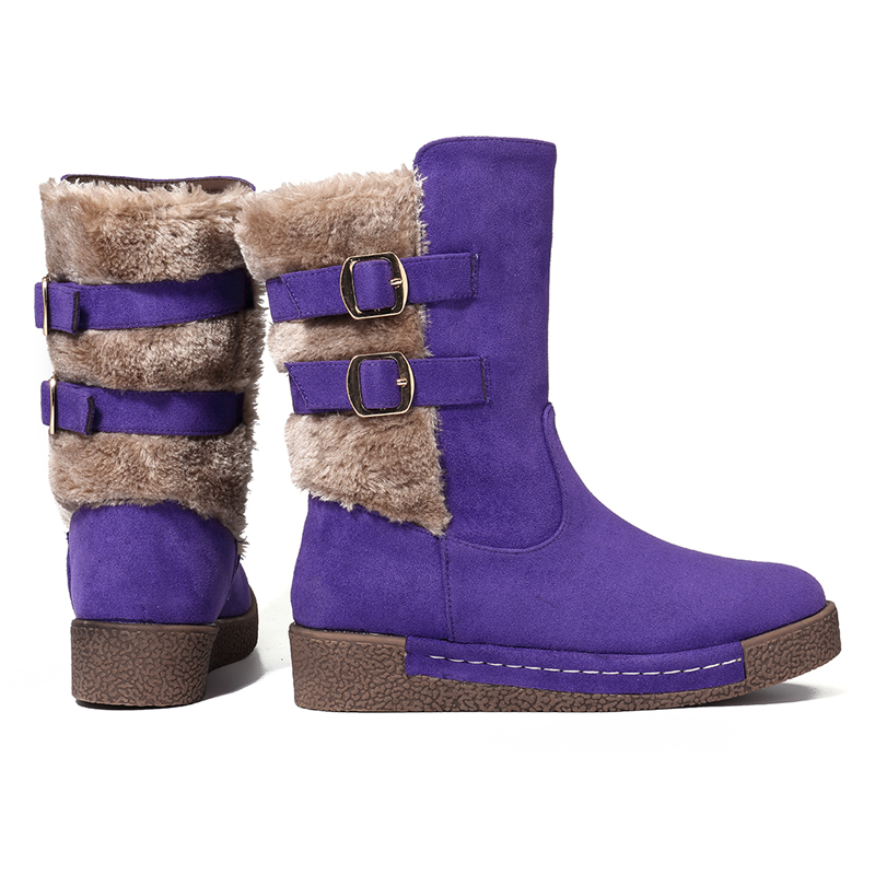 LOSTISY Suede Lining Warm Snow Boot