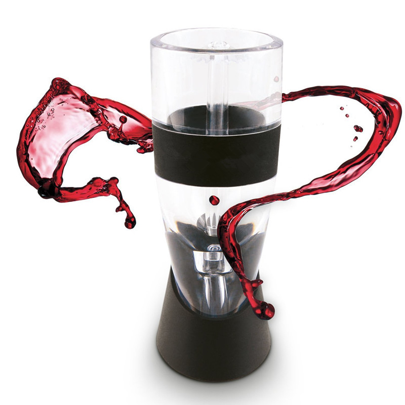 KCASA QD-728 Wine Aerator Quick Aerating Wine Pourer Red Wine Whiskey Aerator Decanter Pourer Spout with Holder Bar Tools