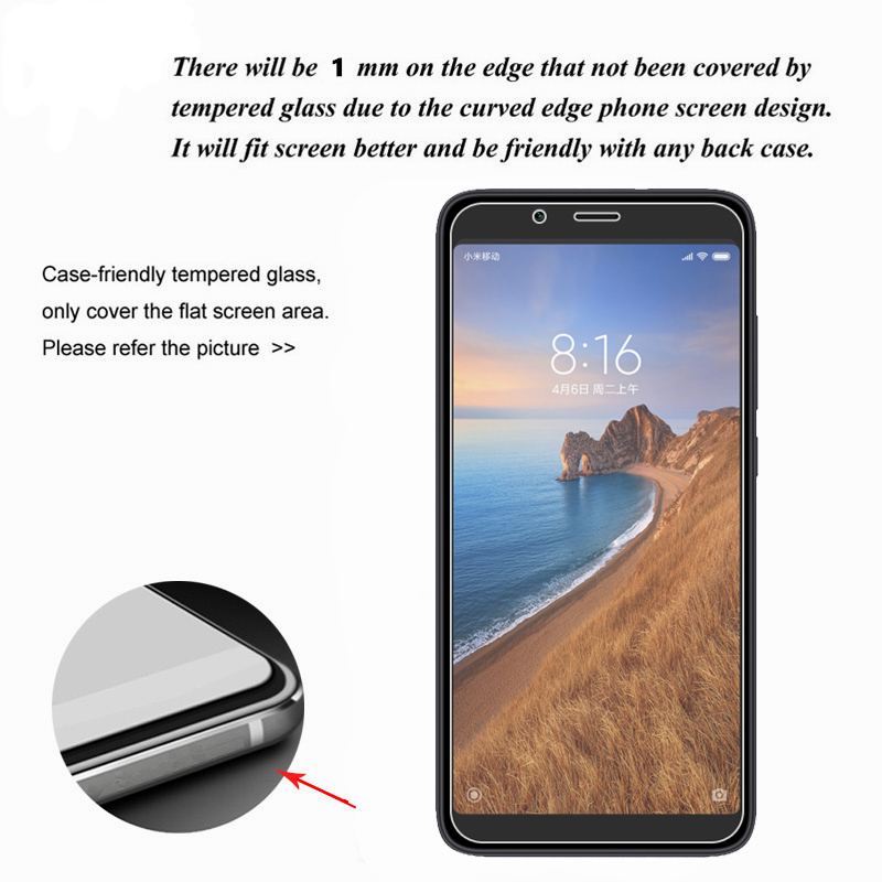 Bakeey Anti-explosion HD Clear Tempered Glass Screen Protector for Xiaomi Redmi 7A