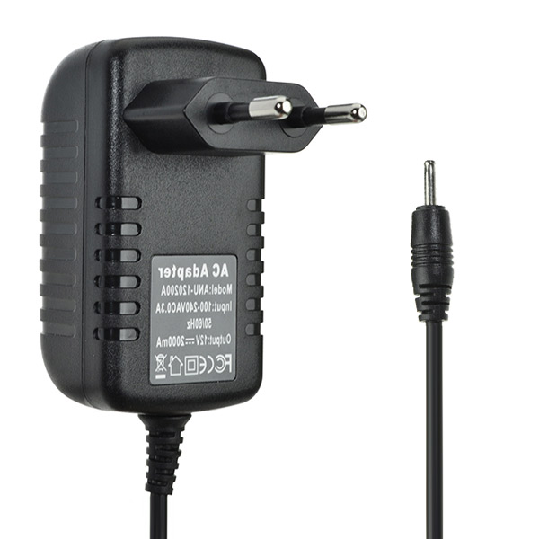 Practical Universal 2.5mm 12V 2A EU Power Adapter AC Ch