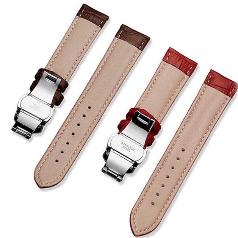 16-22mm Stainless Steel Butterfly Clasp Watch Strap Buckle