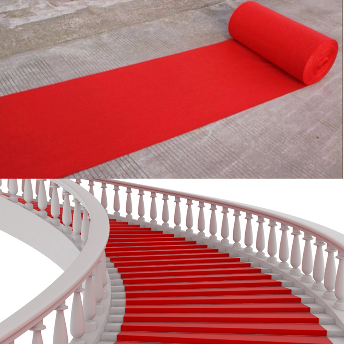 40ft Celebrity Floor Runner Red Carpet Party Wedding Disposable Scene Decoration