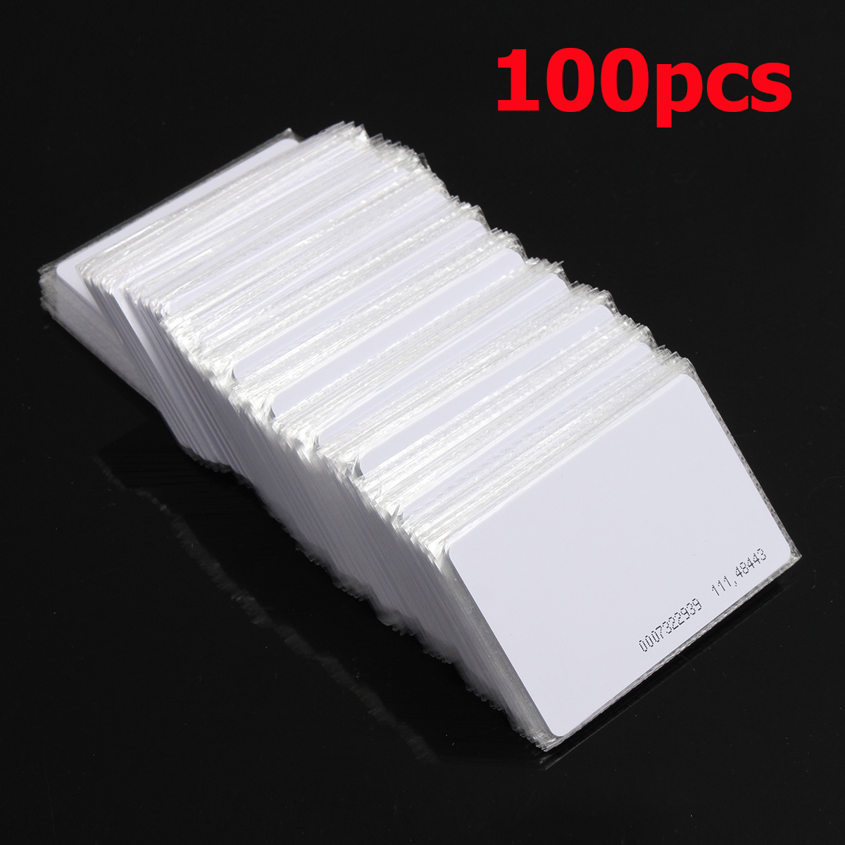 100Pcs RFID 125KHz Proximity Door Control Entry Access EM Card 0.9mm