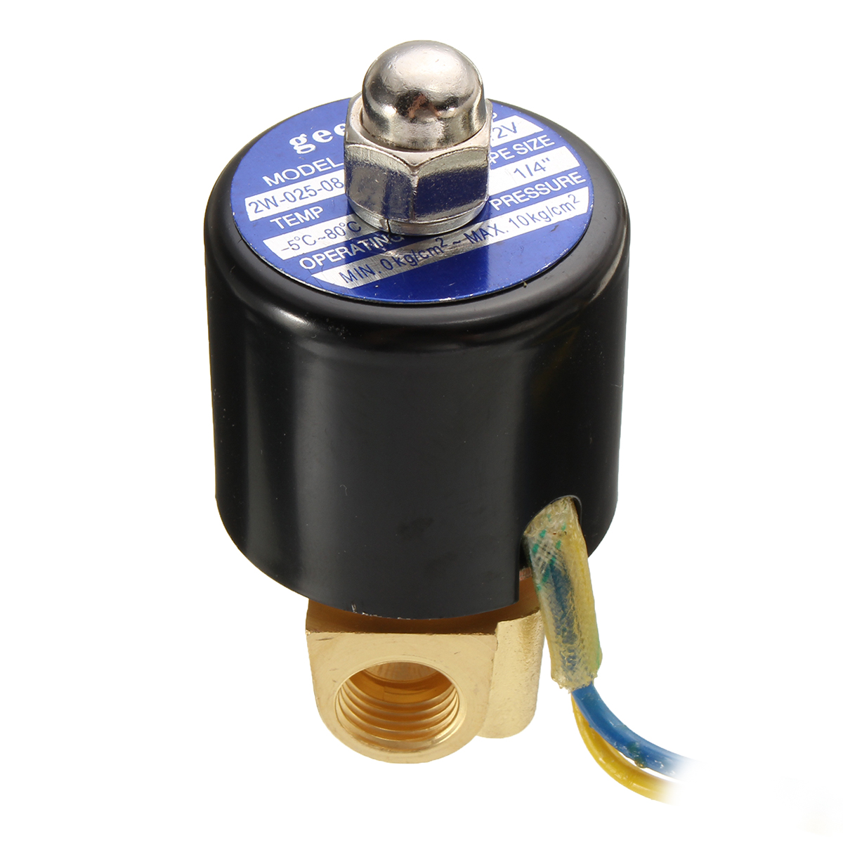 DC12V 1/4inch Electric Solenoid Valve for Air Water Oil