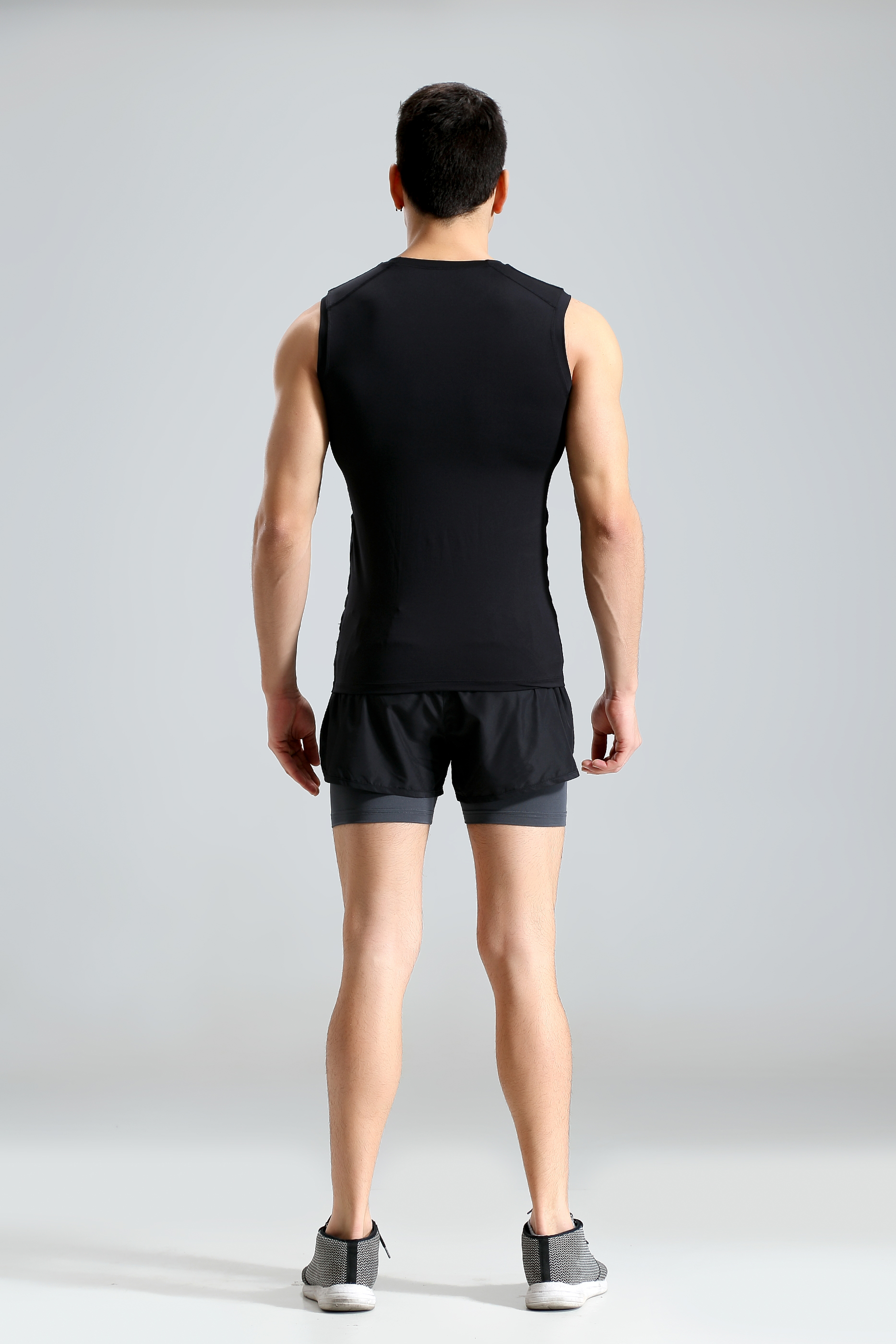 Mens Sports Training T-shirt Casual Sleeveless Vest Perspiration Wicking Tights