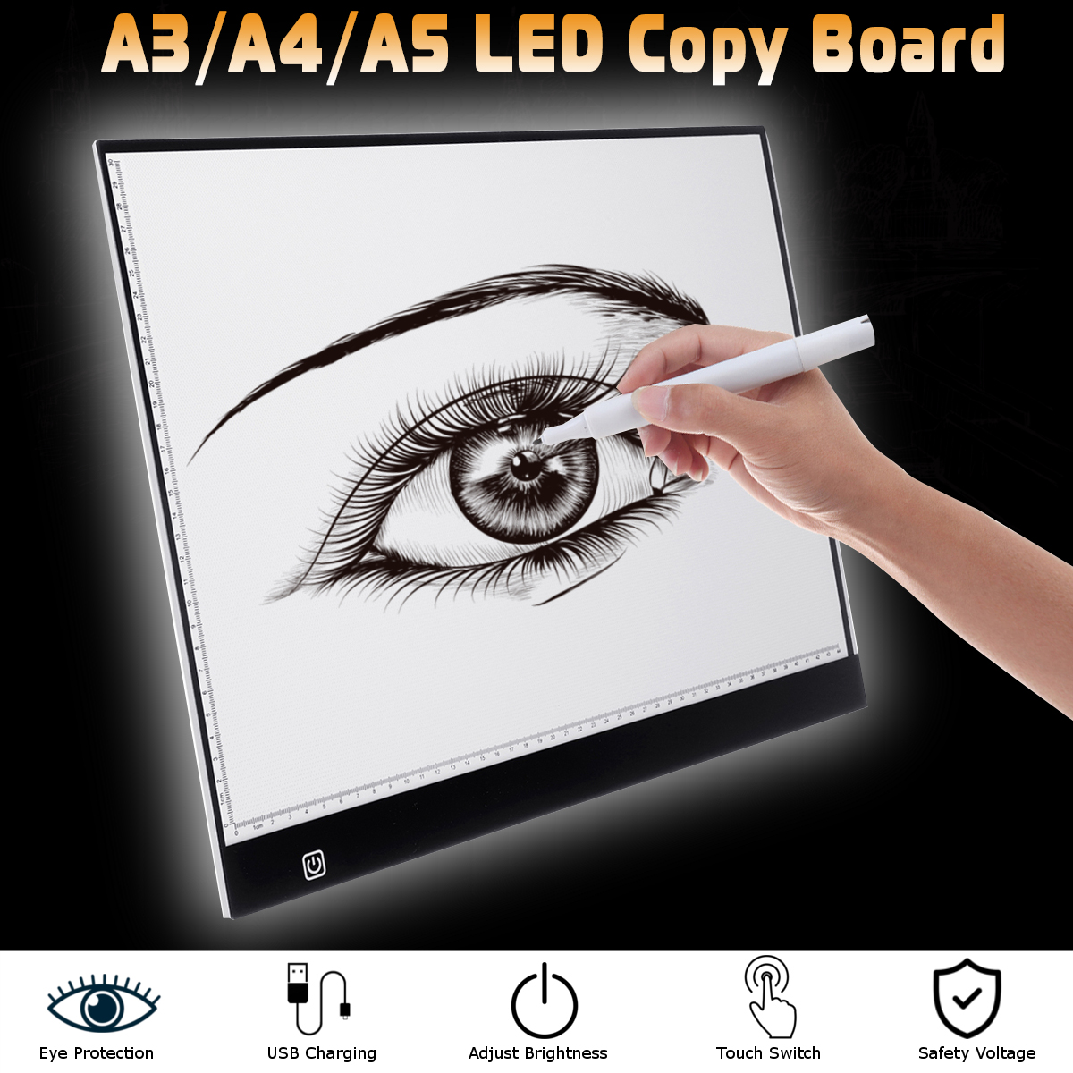 Ultra-Thin USB A5 LED Light Copy Board 3 Levels Adjustable Light Box Tracing Drawing Board Pad for Child Gift Draw