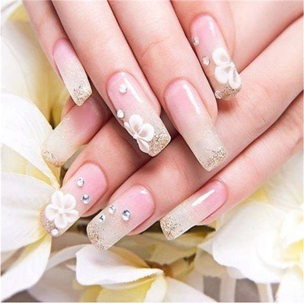 Heart-shaped Flower Rhinestone Nail Decoration Wheel Glitter Diamond Gems