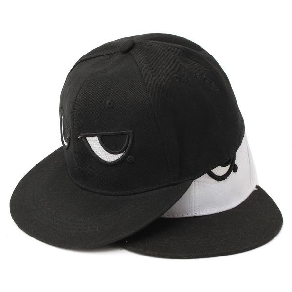 Unisex Men Women Cotton Big Eyes Embroidery Baseball Cap Adjustable Snapback Hip-hop Hat