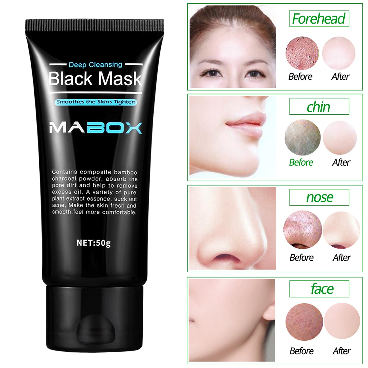 Mabox Charcoal Blackhead Peel Off Mask