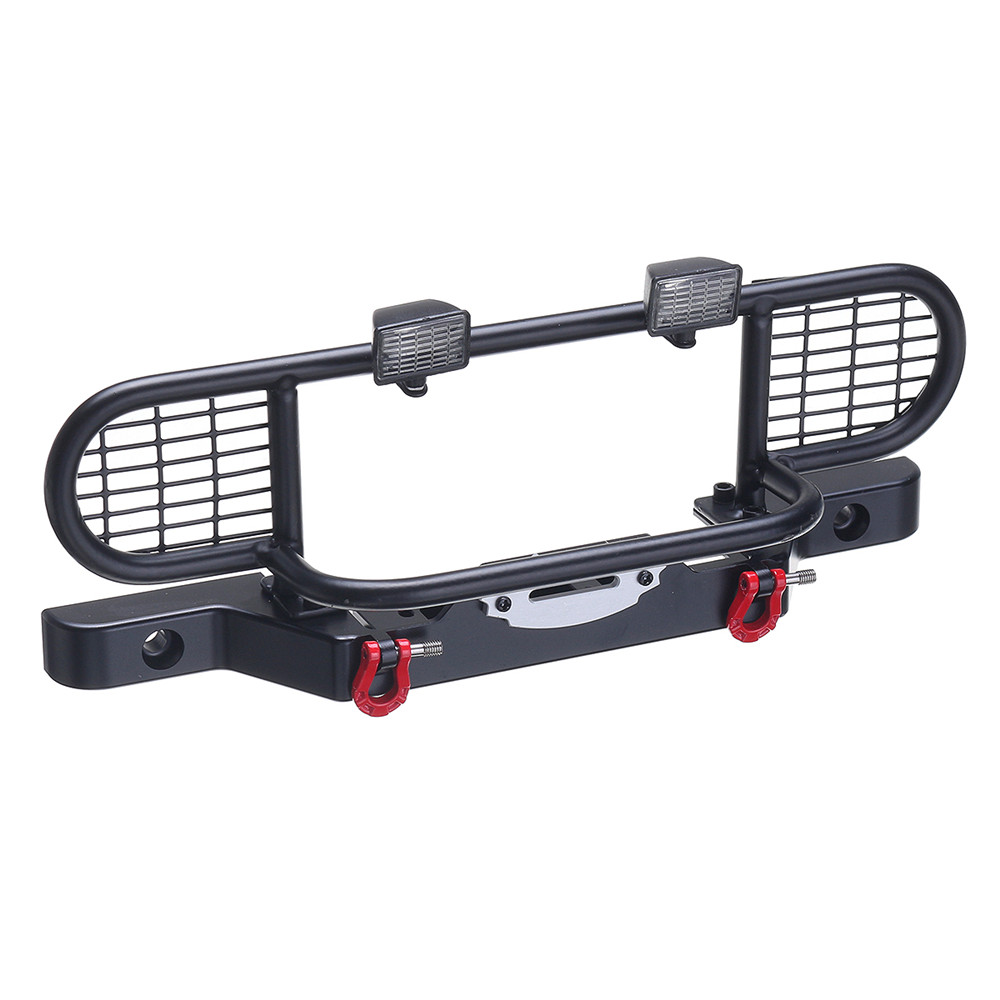 1 Set Metal Front Bumper With Light for 1/10 Scale RC Crawler Car Traxxas TRX4 TRX-4 - Photo: 9