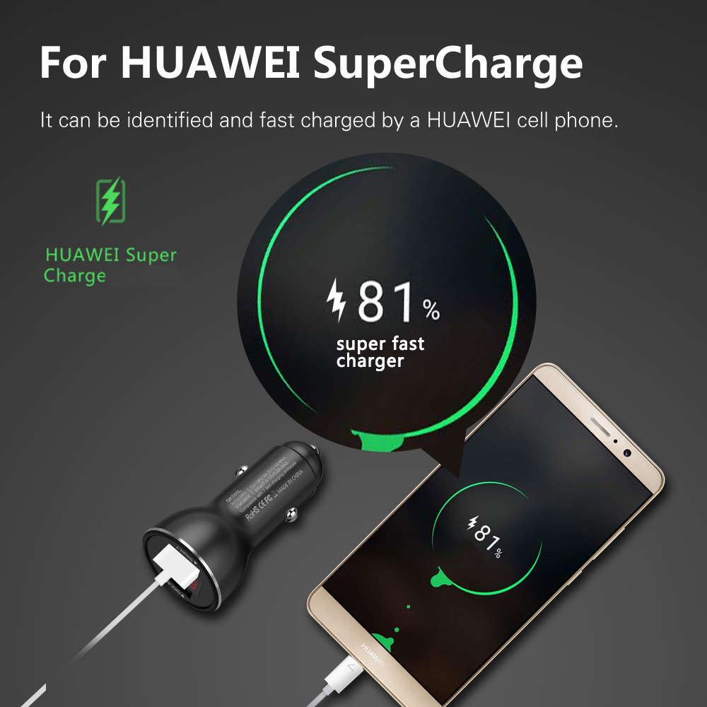 Bakeey QK505L Dual USB Quick Charge 3.0 Fast Car USB Charger for iPhone for Samsung Xiaomi Huawei